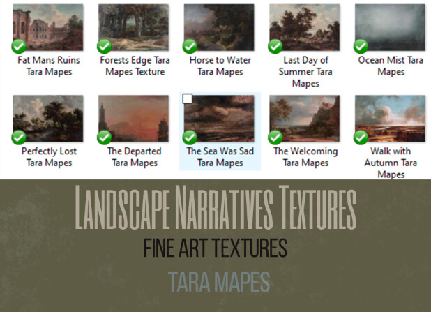 10 Old Masters Fine Art Textures -  Landscape Narrative Textures -Photoshop Overlays Tara Mapes - Video Demo in Description