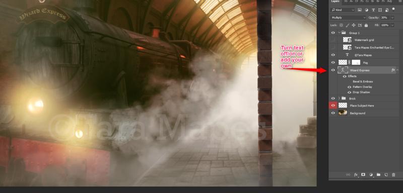 Train Station PSD File Digital Background Backdrop