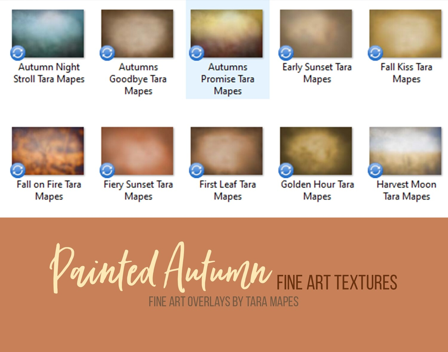 10 Painted Autumn Fine Art Textures -  Rich Fall Color Overlays - Texture Overlays -Photoshop Overlays Tara Mapes - Video Demo in Description