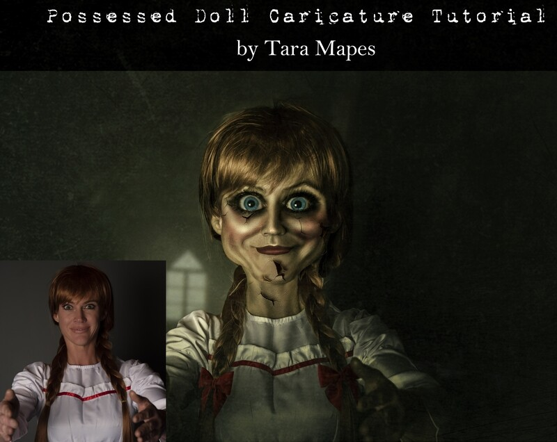 Annabelle Caricature Tutorial by Tara Mapes - Photomanipulation and Surreal Editing Tutorial