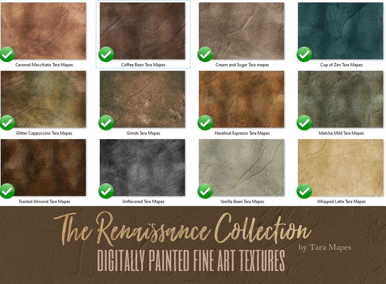 12 Painted Renaissance Collection Fine Art Textures - Fine Art Backdrops - Digital Backgrounds - Photoshop Texture Overlays by Tara Mapes
