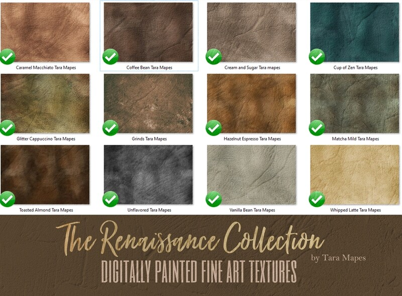 12 Painted Renaissance Collection Fine Art Textures - Fine Art Backdrops - Digital Backgrounds - Photoshop Texture Overlays by Tara Mapes