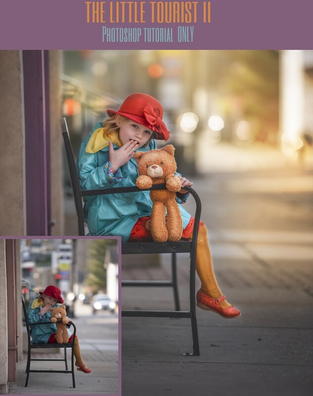 The Little Tourist 2 Fine Art Painterly and Compositing Photoshop Tutorial TUTORIAL ONLY- Fine Art Tutorial by Tara Mapes