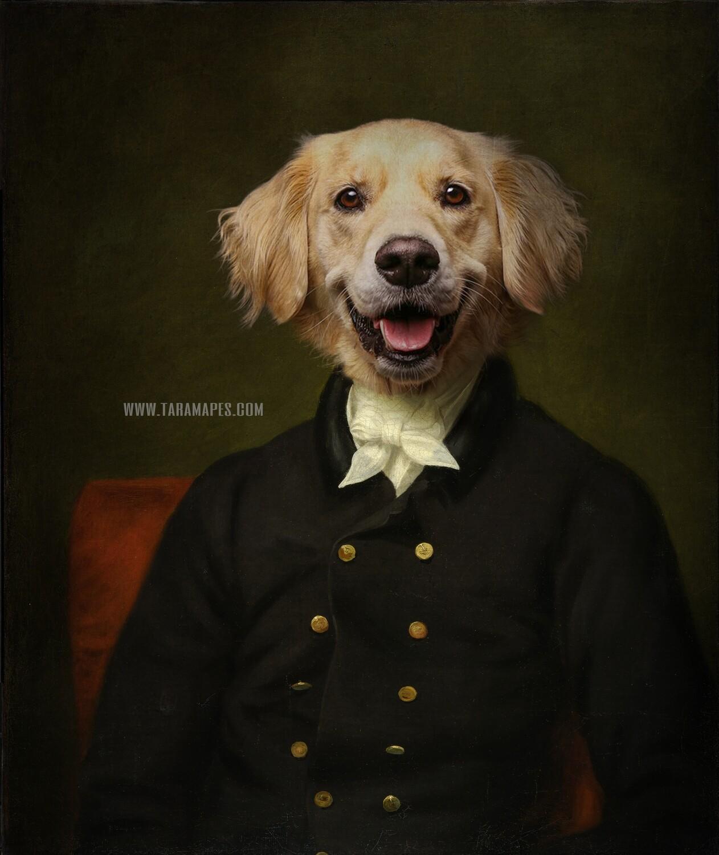 Pet Portrait PSD Template - Pet Painting Portrait Body 5 - Layered PSD  Digital Background Backdrop