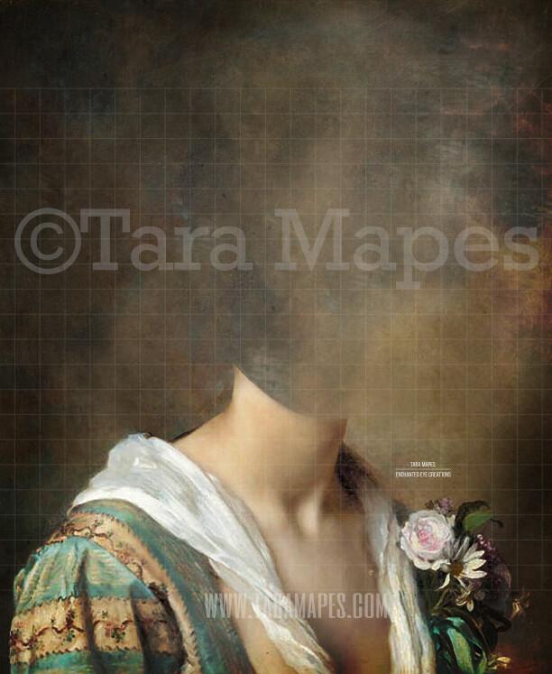 Pet Portrait Female Body PSD Template- Pet Painting Portrait Body 5 - Layered PSD  Digital Background Backdrop