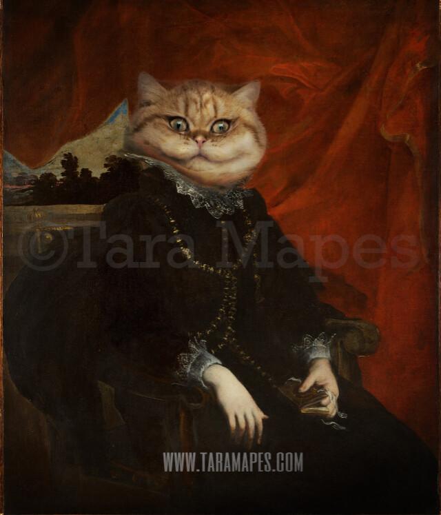 Pet Portrait Female Body PSD Template- Pet Painting Portrait Body 6 - Layered PSD  Digital Background Backdrop