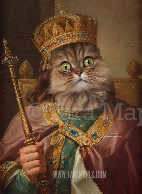 Royal Pet Portrait KING Body PSD Template- Pet Painting Portrait Body 4 - Layered PSD  Digital Background Backdrop