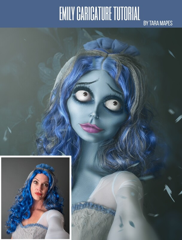 Emily Caricature Tutorial by Tara Mapes - Photomanipulation and Surreal Editing Tutorial