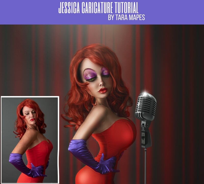 Jessica Caricature Tutorial by Tara Mapes - Photomanipulation and Surreal Editing Tutorial