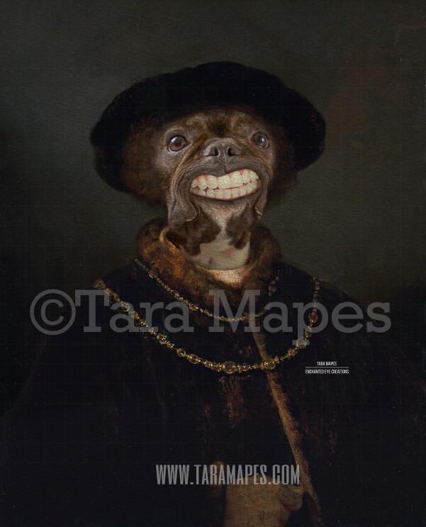 Pet Portrait PSD Template - Pet Painting Portrait Body 31 - Layered PSD Digital Background Backdrop