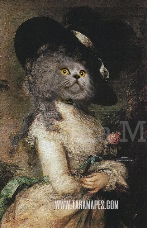 Pet Portrait Female Body PSD Template- Pet Painting Portrait Body 19 - Layered PSD  Digital Background Backdrop