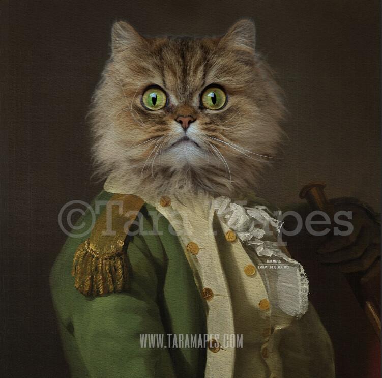 Pet Portrait PSD Template - Pet Painting Portrait Body 39 - Layered PSD Digital Background Backdrop