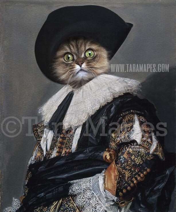 Pet Portrait PSD Template - Pet Painting Portrait Body 42 - Layered PSD Digital Background Backdrop