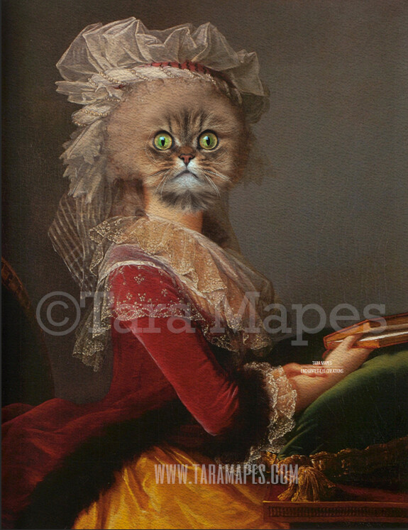 Pet Portrait Female Body PSD Template- Pet Painting Portrait Body 25- Layered PSD  Digital Background Backdrop