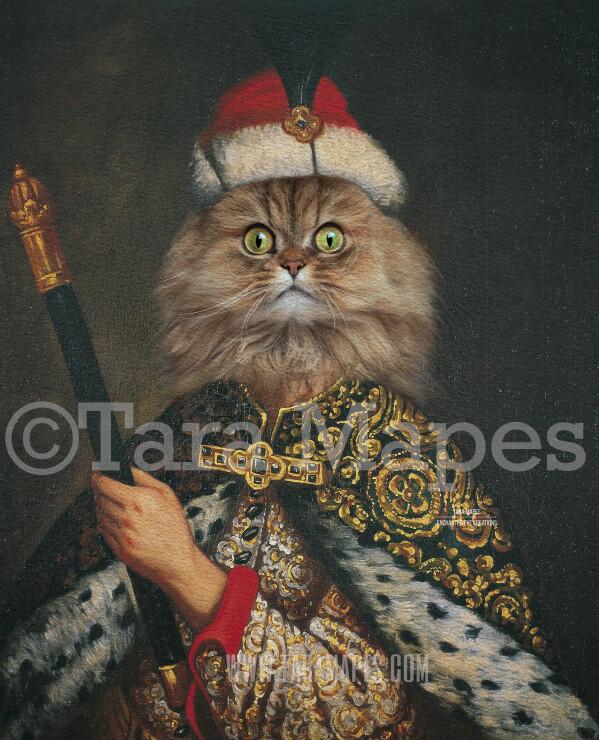 Royal Pet Portrait KING Body PSD Template- Pet Painting Portrait Body 13 - Layered PSD  Digital Background Backdrop
