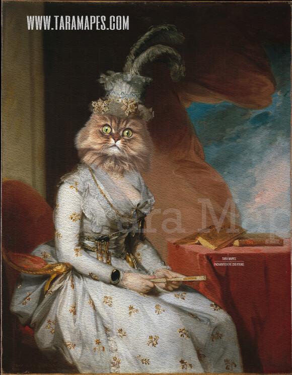 Royal Pet Portrait QUEEN Body PSD Template- Pet Painting Portrait Body 14 - Layered PSD  Digital Background Backdrop