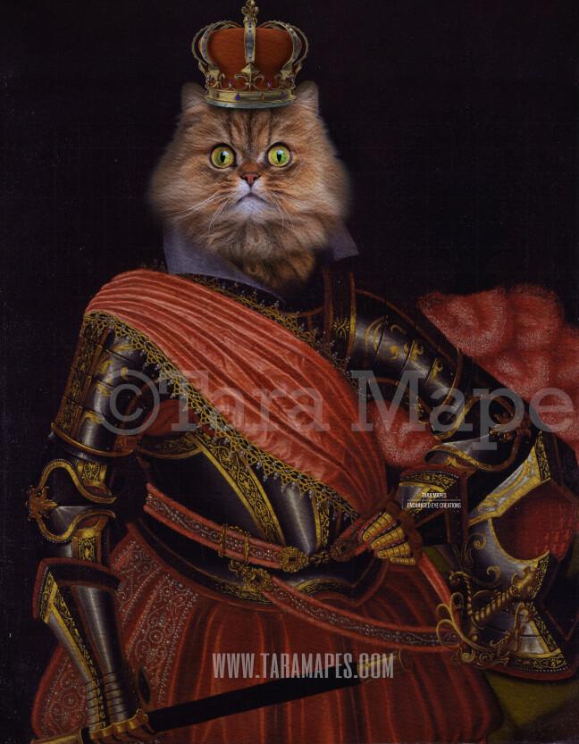 Royal Pet Portrait KING Body PSD Template- Pet Painting Portrait Body 16-- Layered PSD  Digital Background Backdrop