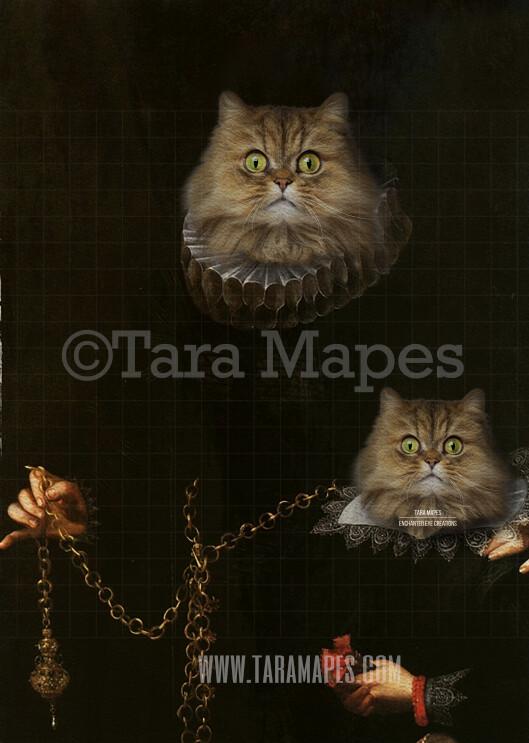 Pet Portrait PSD Template - Pet Painting Portrait Body 54 - Layered PSD Digital Background Backdrop