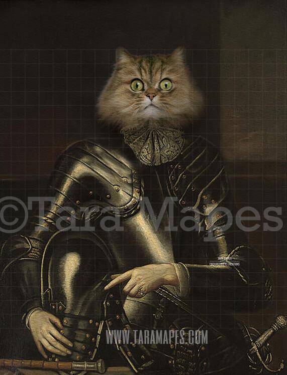 Pet Portrait PSD Template - Pet Painting Portrait Body 59 - Layered PSD Digital Background Backdrop