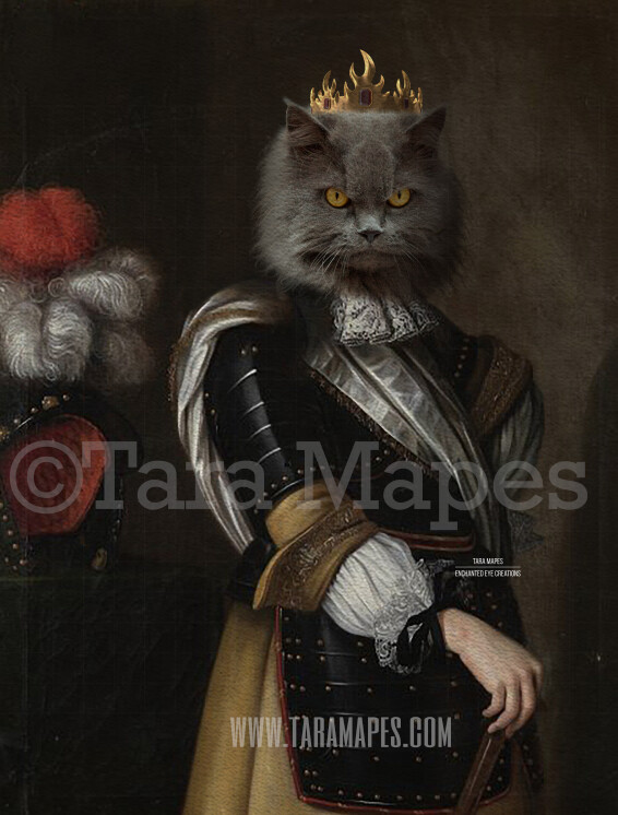 Royal Pet Portrait KING Body  Layered PSD Template- Pet Painting Portrait Body 20-- Layered PSD  Digital Background Backdrop