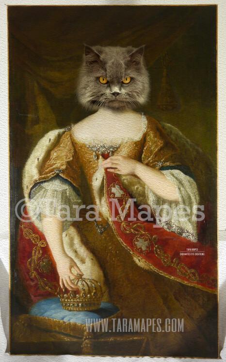 Royal Pet Portrait QUEEN Body PSD Template- Pet Painting Portrait Body 18 - Layered PSD  Digital Background Backdrop