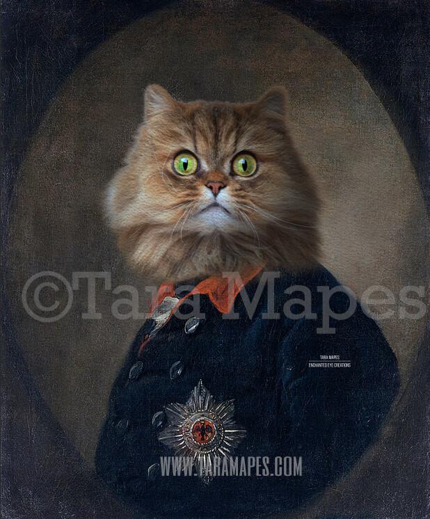 Pet Portrait PSD Template - Pet Painting Portrait Body 64 - Layered PSD Digital Background Backdrop