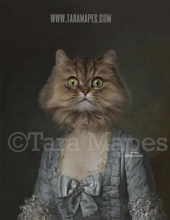 Pet Portrait Female Body PSD Template- Pet Painting Portrait Body 30 - Layered PSD  Digital Background Backdrop