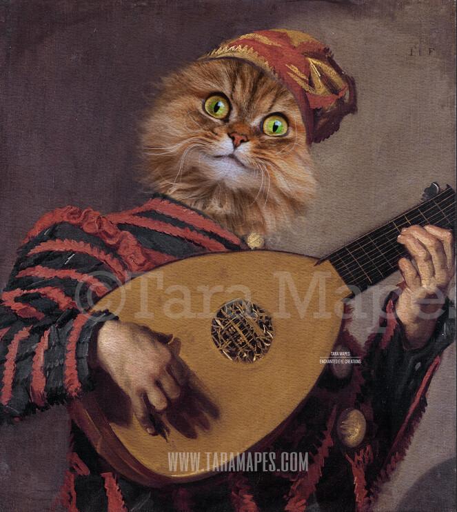 Pet Portrait Jester Body - Layered PSD Template- Pet Painting Portrait Body 75 -  Digital Background Backdrop