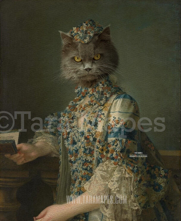 Pet Portrait Female Body PSD Template- Pet Painting Portrait Body 31 - Layered PSD  Digital Background Backdrop