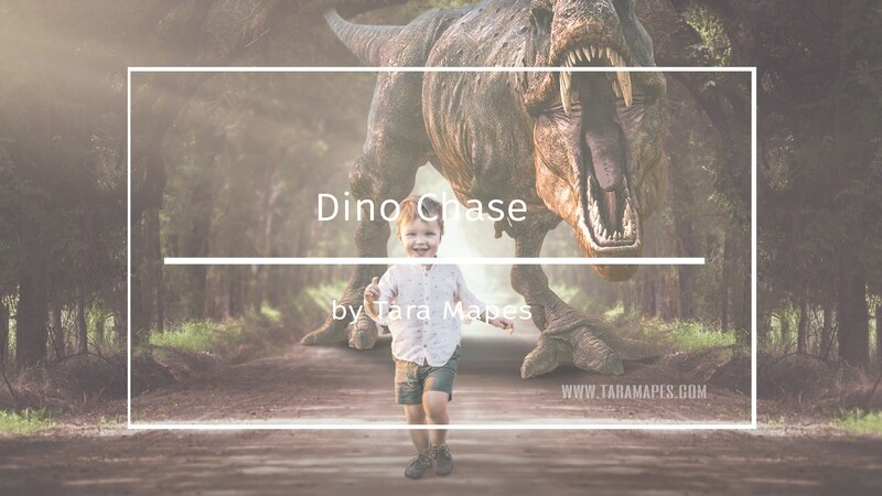 Photoshop Tutorial on How To Extract and Blend Your Subject into Dino Chase Background in Photoshop by Tara Mapes