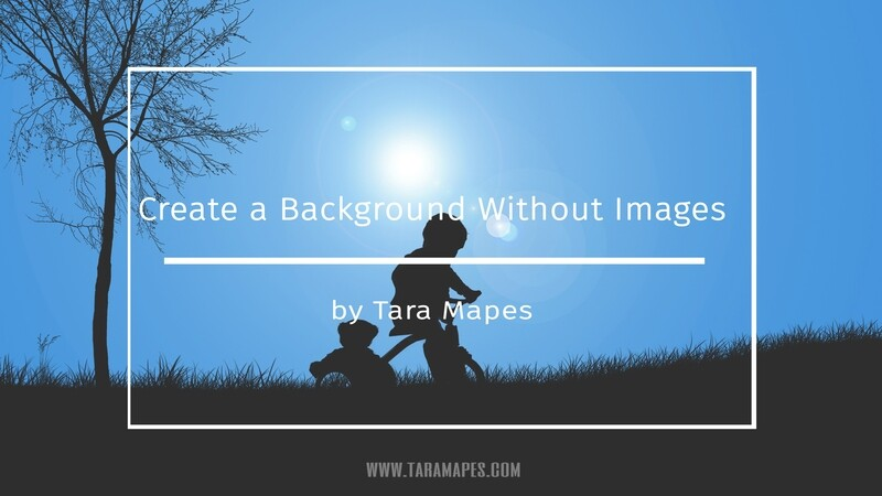 Photoshop Tutorial on How To Create a Background in Photoshop without Images by Tara Mapes