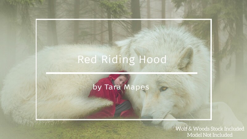 How to Create Red Riding Hood Digital Background in Photoshop Compositing Tutorial by Tara Mapes Enchanted Eye Creations