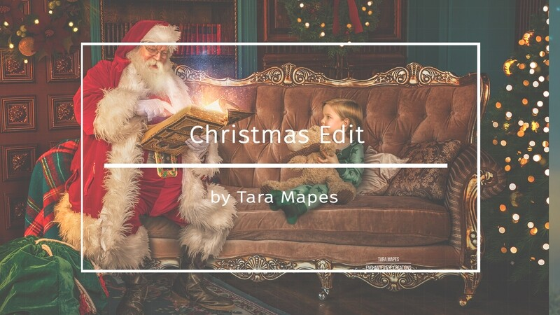 Christmas Edit - Painterly Santa Background - Photoshop Tutorial on Adding and Editing Your Subject - Painterly Fine Art Photoshop Tutorial by Tara Mapes
