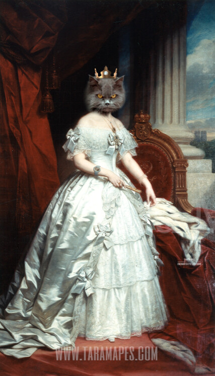 Royal Pet Portrait QUEEN Body PSD Template- Pet Painting Portrait Body 31 - Layered PSD  Digital Background Backdrop