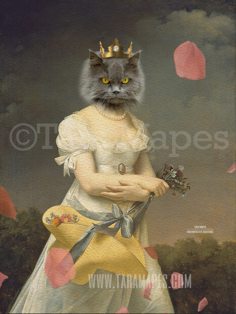 Royal Pet Portrait QUEEN Body PSD Template- Pet Painting Portrait Body 37 - Layered PSD  Digital Background Backdrop