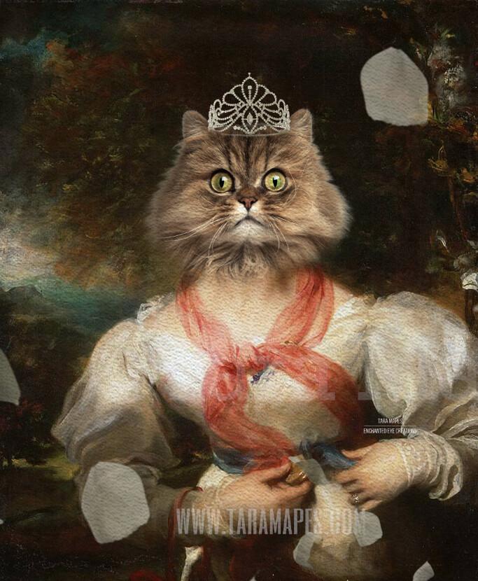 Royal Pet Portrait QUEEN Body PSD Template- Pet Painting Portrait Body 39 - Layered PSD  Digital Background Backdrop