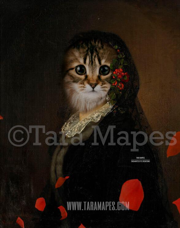 Pet Portrait Female Body PSD Template- Pet Painting Portrait Body 36 - Layered PSD  Digital Background Backdrop