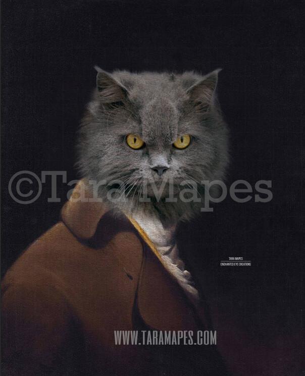 Pet Portrait PSD Template - Pet Painting Portrait Body 81 - Layered PSD  Digital Background Backdrop