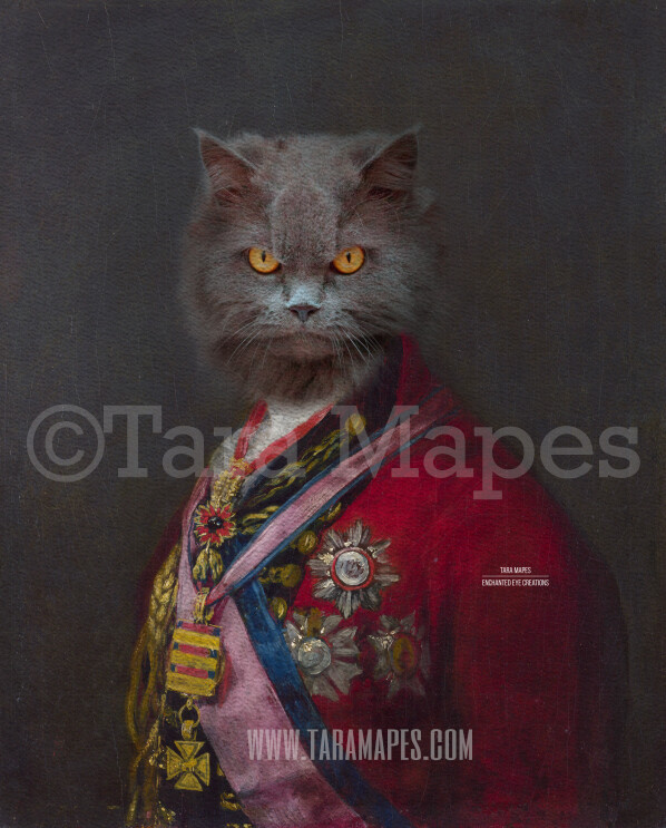 Pet Portrait PSD Template - Pet Painting Portrait Body 85 - Layered PSD  Digital Background Backdrop