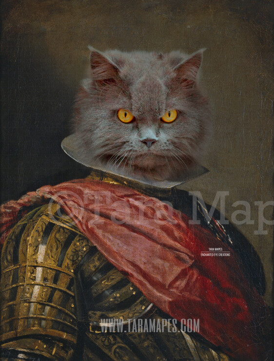 Pet Portrait PSD Template - Pet Painting Portrait Body 86 - Layered PSD  Digital Background Backdrop