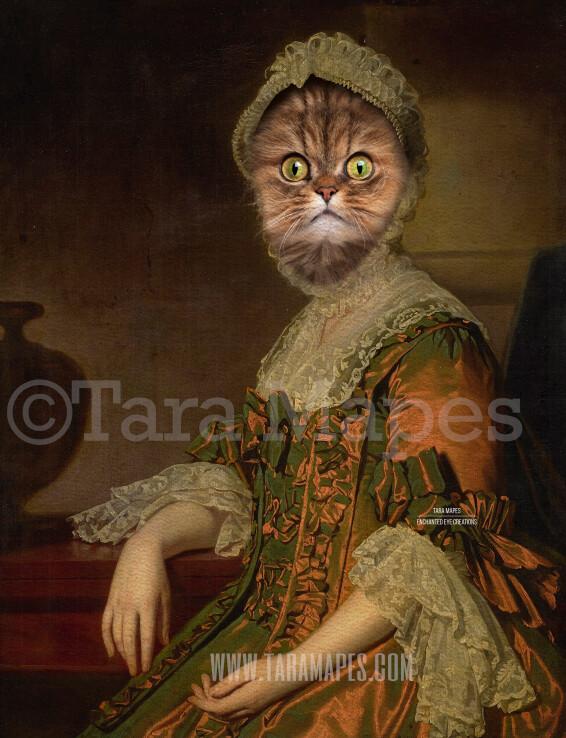 Pet Portrait Female Body PSD Template- Pet Painting Portrait Body 42 - Layered PSD  Digital Background Backdrop