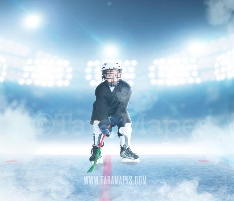 Hockey Rink -Ice Skating Scene - Ice Rink - Digital Background Backdrop by Tara Mapes Enchanted Eye Creations
