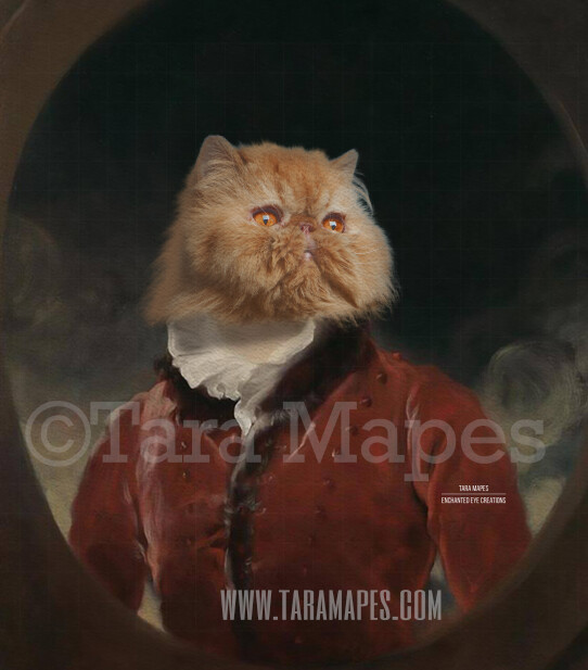 Pet Portrait PSD Template - Pet Painting Portrait Body 91 - Layered PSD  Digital Background Backdrop