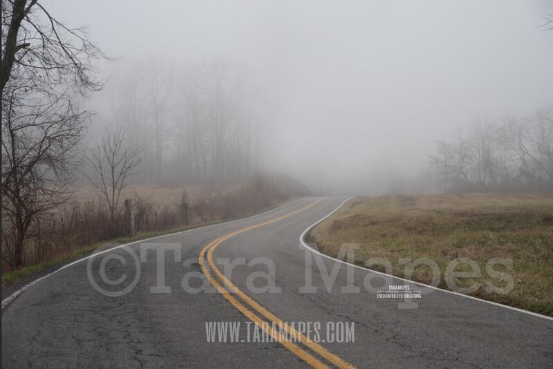 Foggy Road 1 $1 Digital Background Backdrop