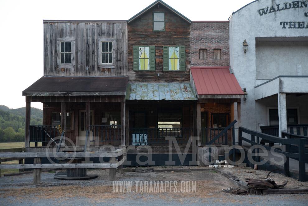 Old Western Building $1 Digital Background Backdrop