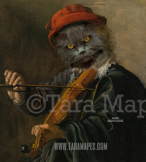 Pet Portrait  - PSD Template- Pet Painting Portrait Body 96 - Layered PSD  Digital Background Backdrop