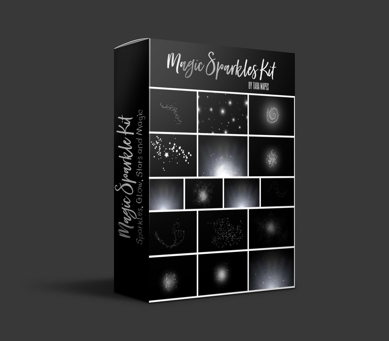 16 Magic Sparkle Overlays - Glowing Book - Fairy Dust - Glitter Sparkles Overlays -