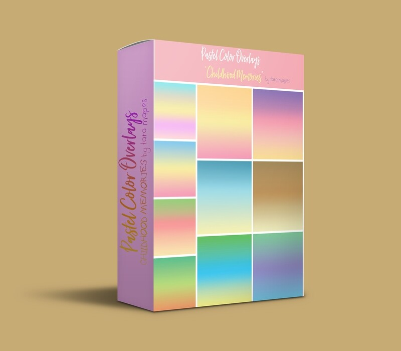 10 Pastel Color Overlays