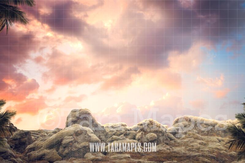 Rocks - Rock Cliff Digital Background / Backdrop
