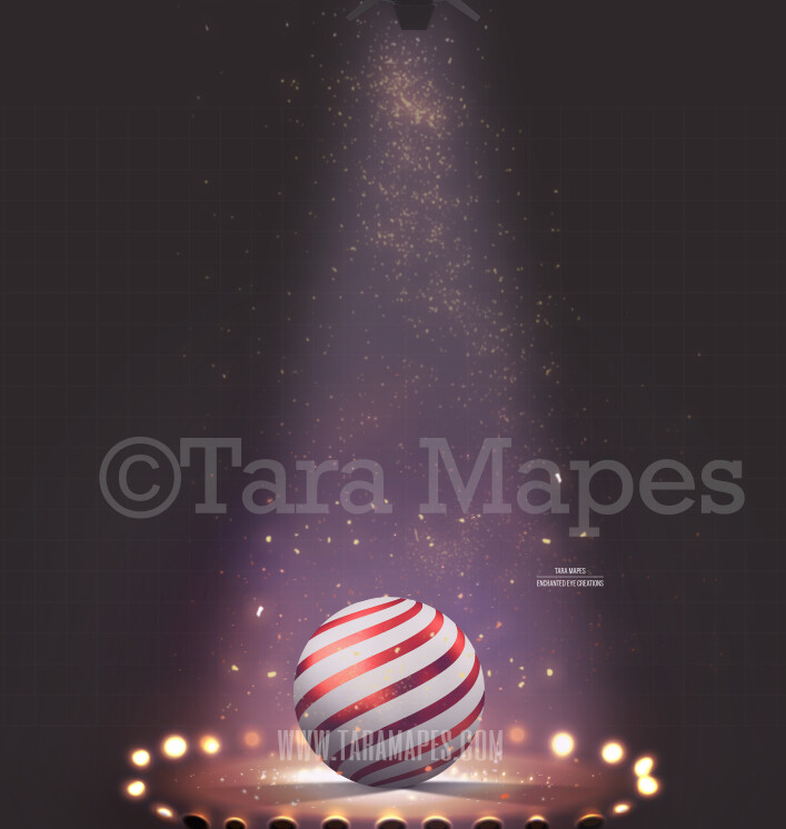 Circus Arena Under Lights with Ball Digital Background